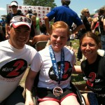 Dan Tun, Keri Schindler (Dare2Tri) and myself after The Paratriathlon National Championships.