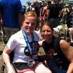 Keri Schindler (Dare2tri) and I after The Paratriathlon National Championships.