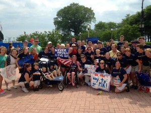Chicago IL - Having some of the best friends & family on the course cheering my on to my first ITU win!