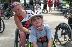 Helping out at Dare2tri's kids Paratriathlon camp!