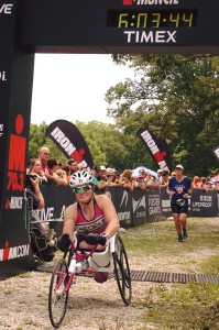 Finish line at Muncie 70.3