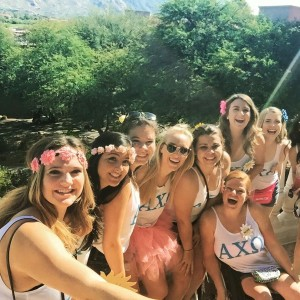 Kicked off junior year at Bid Day for AXO