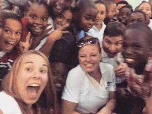 These kids were excited during school visits in Cayman.